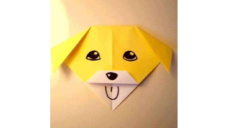 Origami Talking Dog