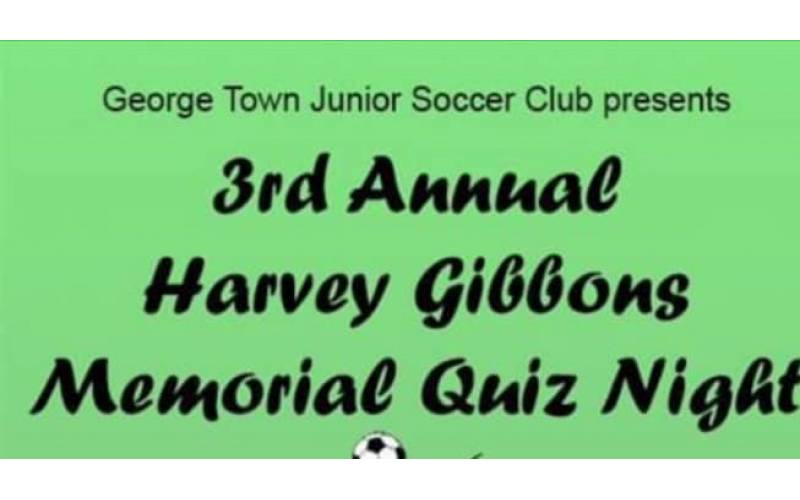 George Town Junior Soccer Club = Annual Harvey Gibbons Trivia Night