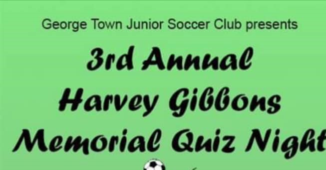 George Town Junior Soccer Club = Annual Harvey Gibbons Trivia Night image